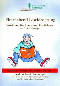 2014 Plakat Leseförderung